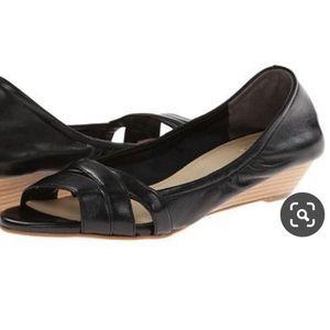 NWOB Cole Haan  Soft Black Women's Wedge Heels 5B
